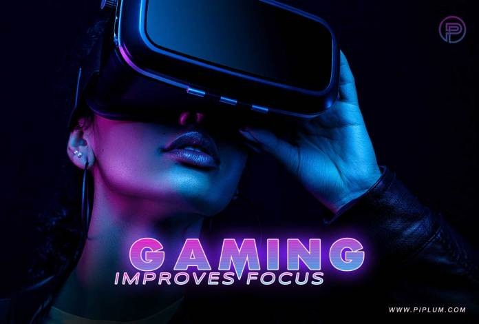 gaming improves focus women use virtual reality lenses
