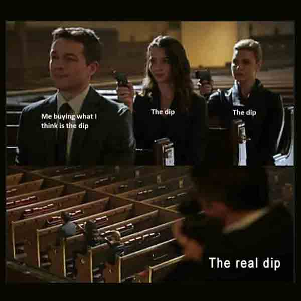 We all thought we bought THE DIP... Funny tales of crypto trading.