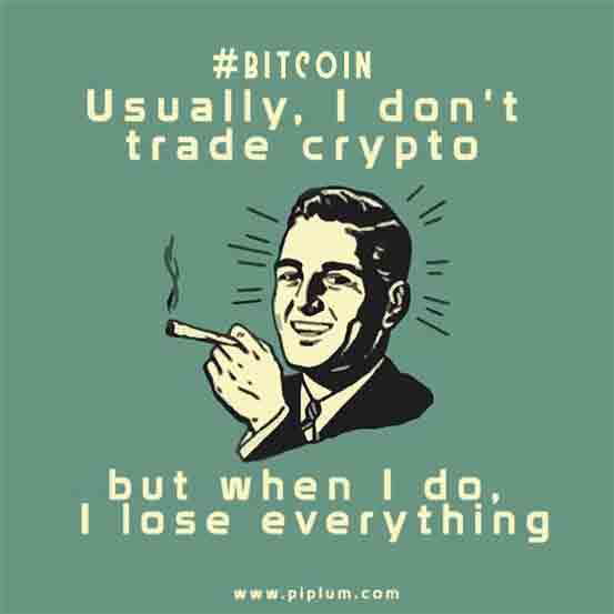 Staying positive after loosing money. Funny crypto reality.