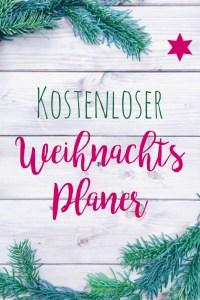 Weihnachtsplaner zum kostenlosen Download by pippapiemaker.com