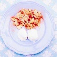 Apple Crumble - Apfelkuchen und Dessert in einem