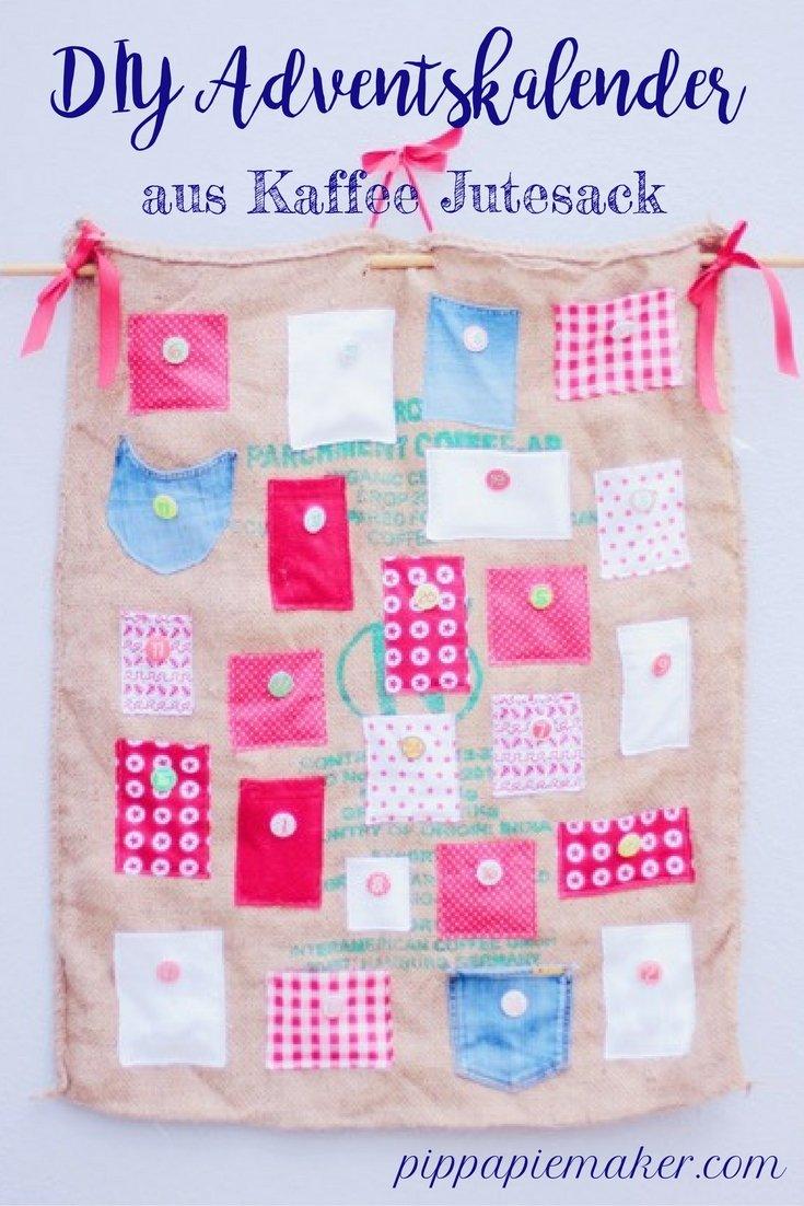 DIY Adventkalender aus Jutesack by pippapiemaker.com