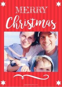 Christmas Card Template by pippapiemaker.com