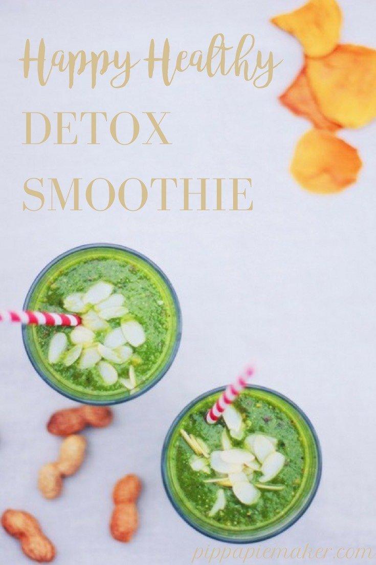 Leckerer, grüner Superfood Smoothie! Stärke deine Immunabwehr und sorg für einen kräftigen Vitaminschub mit diesem einfachen Detox Smoothie Rezept!