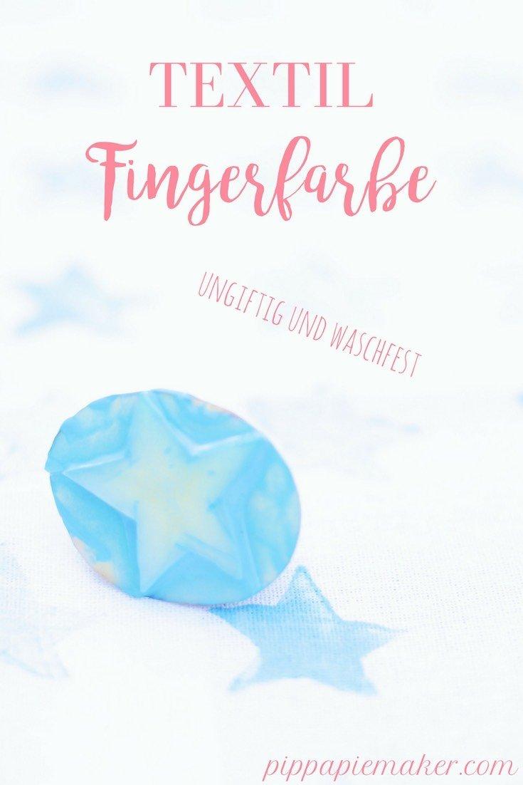 Mit Fingerfarbe für Stoff lassen sich bezaubernde Geschenke für die Familie basteln. Stoff bedrucken mit Kleinkindern mit ungiftiger und waschechter Farbe.