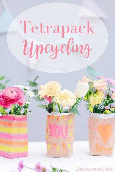 Ich bin ein riesen Fan von diesem Tetrapack Upcycling Projekt. Nachhaltigkeit und ein ganz besonderer, persönlicher Blumengruß in einem. Ob als Geschenk zum Muttertag oder einfach so, Zero Waste Basteln rockt immer!