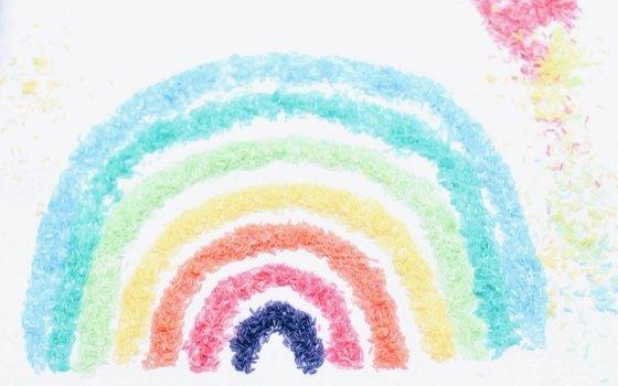 Regenbogen Reis – Montessori inspiriertes DIY