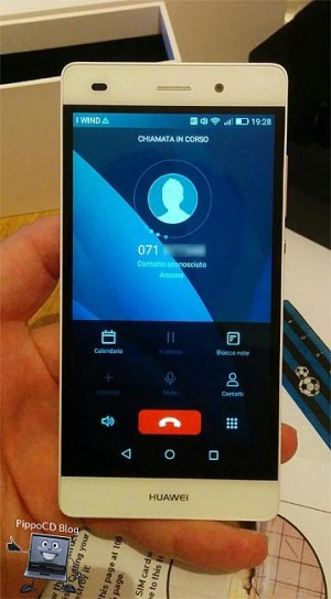 Huawei P8 Lite dialer