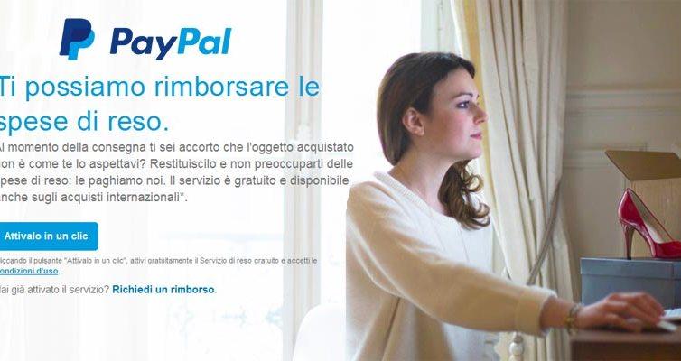 Paypal rimborso spese reso