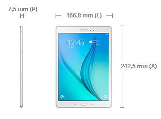 Galaxy Tab A dimensioni