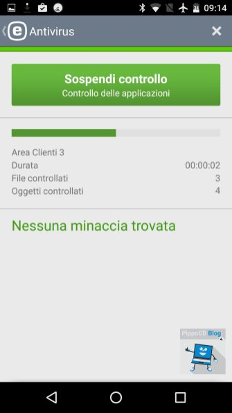 eset mobile security scansione