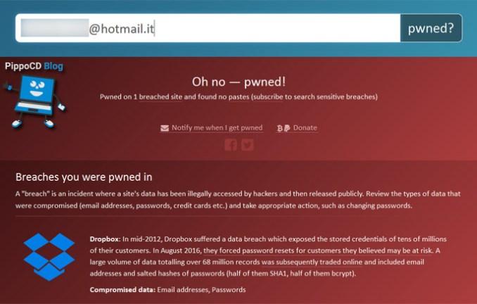 Scopri se il tuo account stato violato have i been for Mail il tuo account e stato hackerato