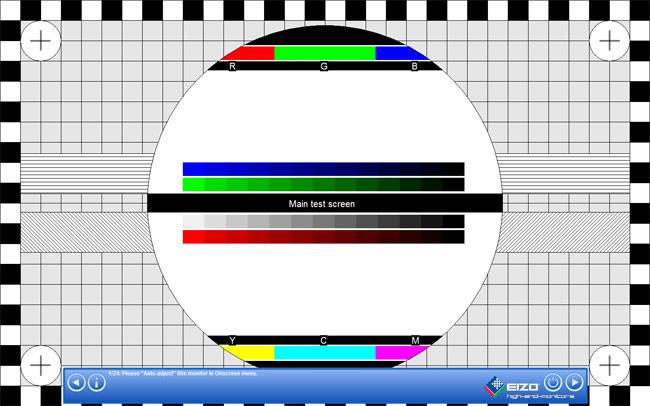 Eizo test monitor