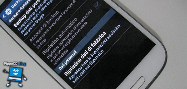 Ripristinare Smartphone Android
