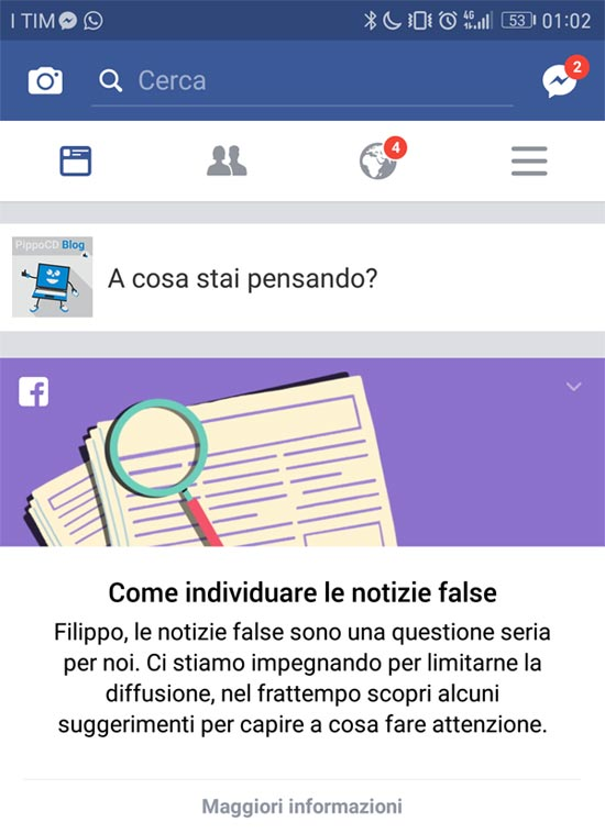 notizie false facebook
