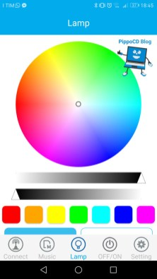 App JBSmartbulb controllo colore