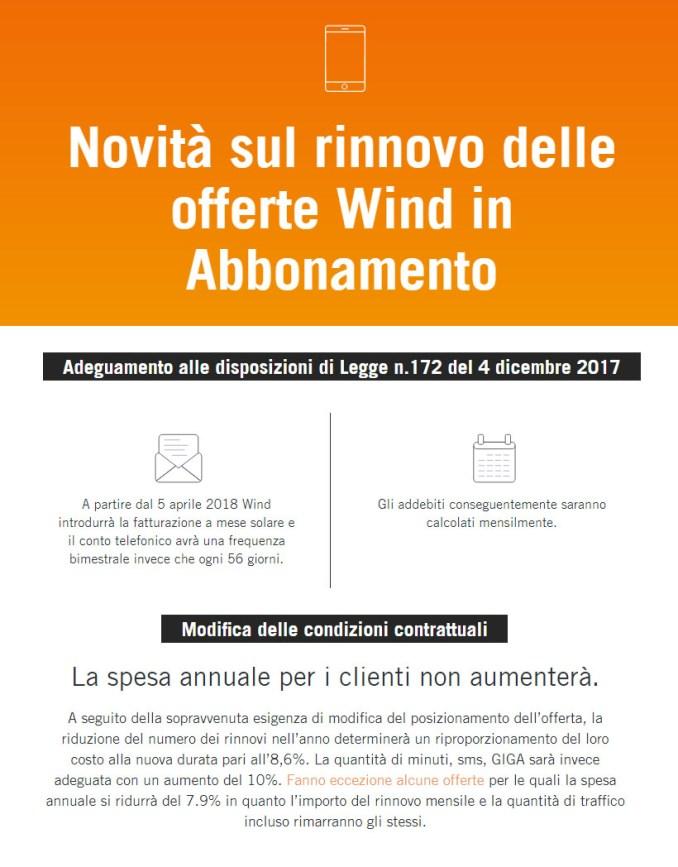 Wind adeguamento abbonati
