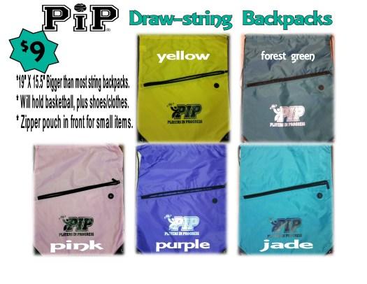 drawstring back packs