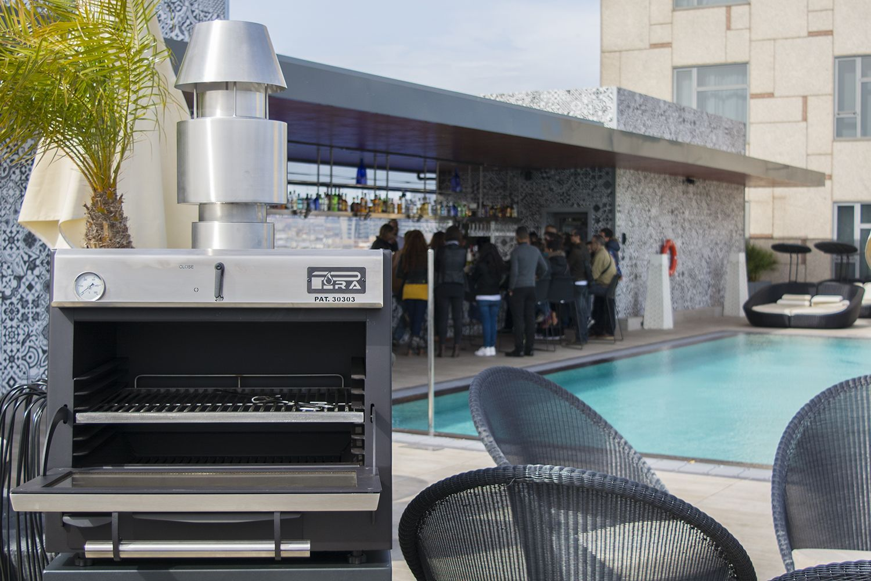 Horno brasa pira 45 lux inox terraza hotel Catalonia Plaza