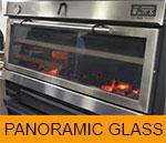 120 ED Pira charcoal Oven Panoramic glass detail