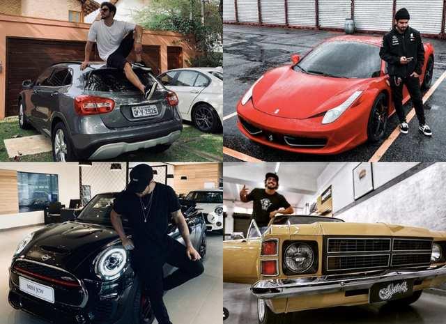 Caio Castro faz coleção de carros e motos (Foto: Reprodução)