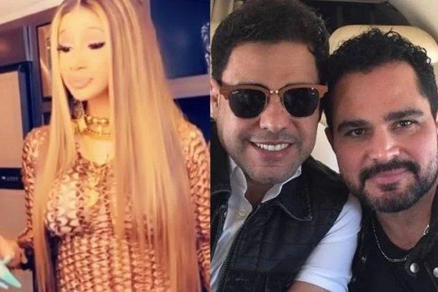 Cardi B surge cantando Zezé Di Camargo e Luciano e deixa web em polvorosa