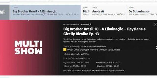 Erroneamente, Globo anuncia eliminação de Gizelly do BBB20