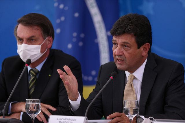 bolsonaro e henrique mandetta ministro da saúde