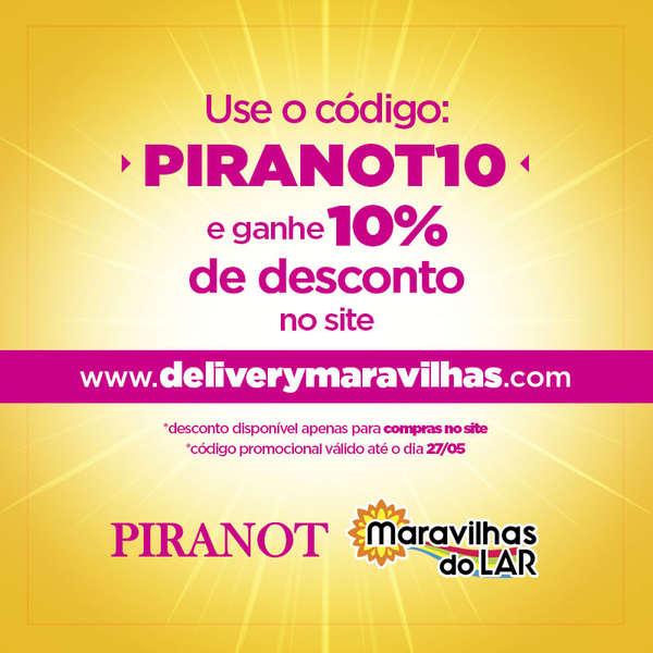 Use o código promocional do PIRANOT e ganhe desconto na Maravilhas no Lar