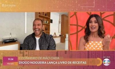 Diogo Nogueira e Fátima Bernardes no Encontro