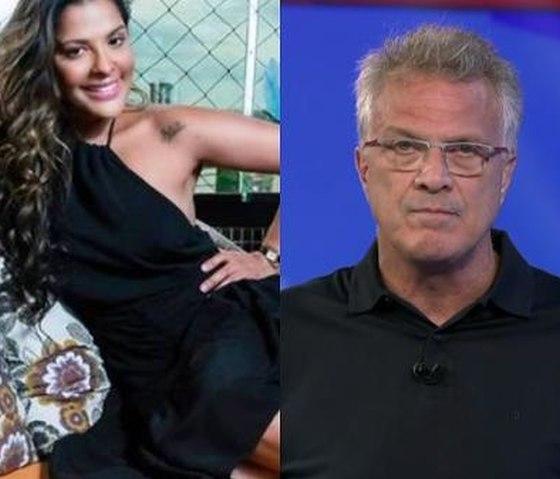 Gyselle Soares e Pedro Bial - Foto: Reprodução