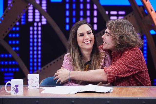 Tatá Werneck e Rafa Vitti gravam programa juntos para comemorar Dia dos Namorados