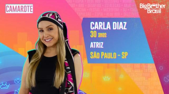 Veja quem é Carla Diaz do Grupo Camarote do BBB21