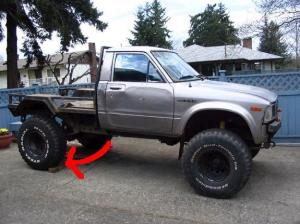 Stock height of a 83 toyota pickup  Pirate4x4Com : 4x4