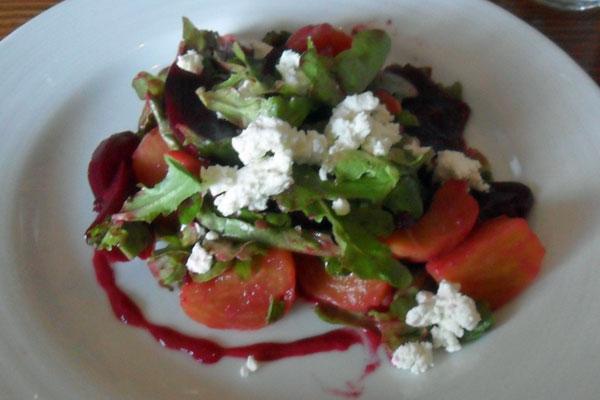 Taliaferro Farms organic beet salad