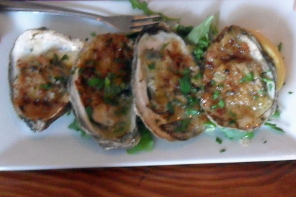 Roasted Oysters: one of the specials