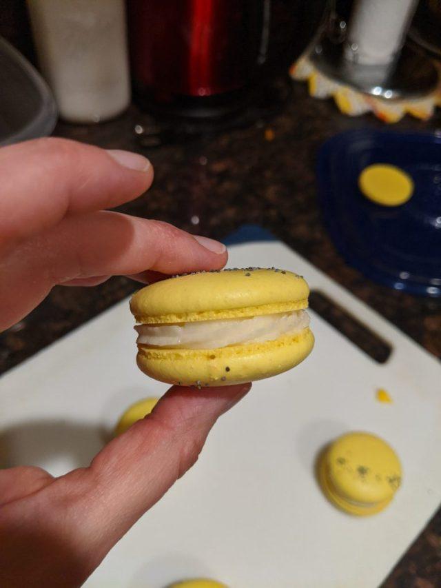 Meyer Lemon Poppy Seed Macaron