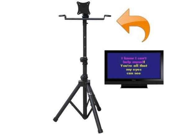 "Karaoke Monitor Stand w/19"" LED TV"