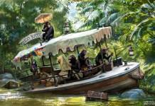 Jungle Cruise Kongo Kate Boat with Chimpanzees inside