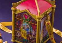 Tokyo Disneyland Beauty and the Beast Stained Glass Windows Popcorn bucket