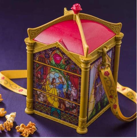 Tokyo Disneyland Beauty and the Beast Stained Glass Windows Popcorn bucket