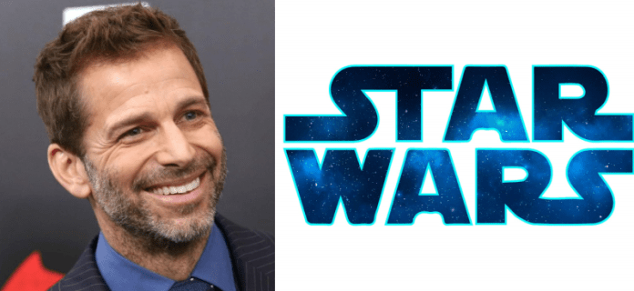 Director Zack Snyder with Star Wars logo