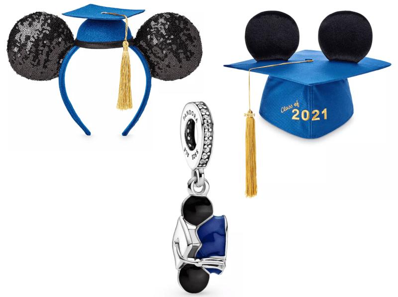 New 2021 Graduation Mickey Ears, Graduation Cap and Pandora Charm ...