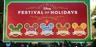 Disney Festival of Holidays sign