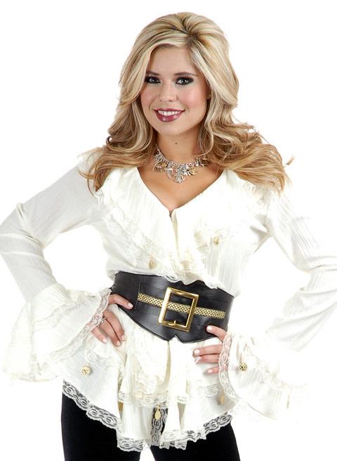 pirate costume ch 2310 w pirate blouse l Plus Size Pirate Blouse