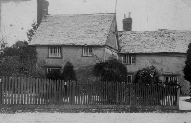 1930 John Gurney outside the farm he owned.