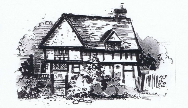 Mike James drawing of Ivy Cottage