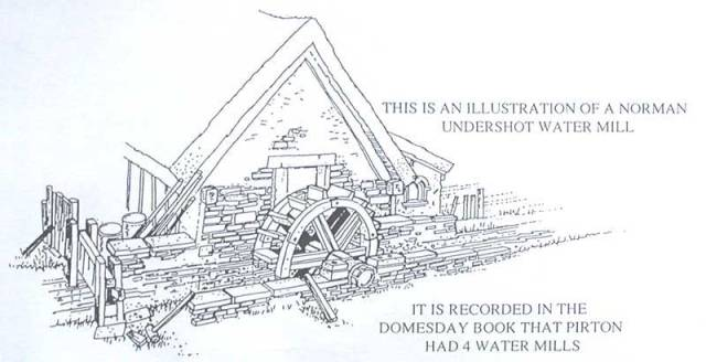 Norman undershot watermill It is recorded in the domesday book that Pirton had 4 water mills.