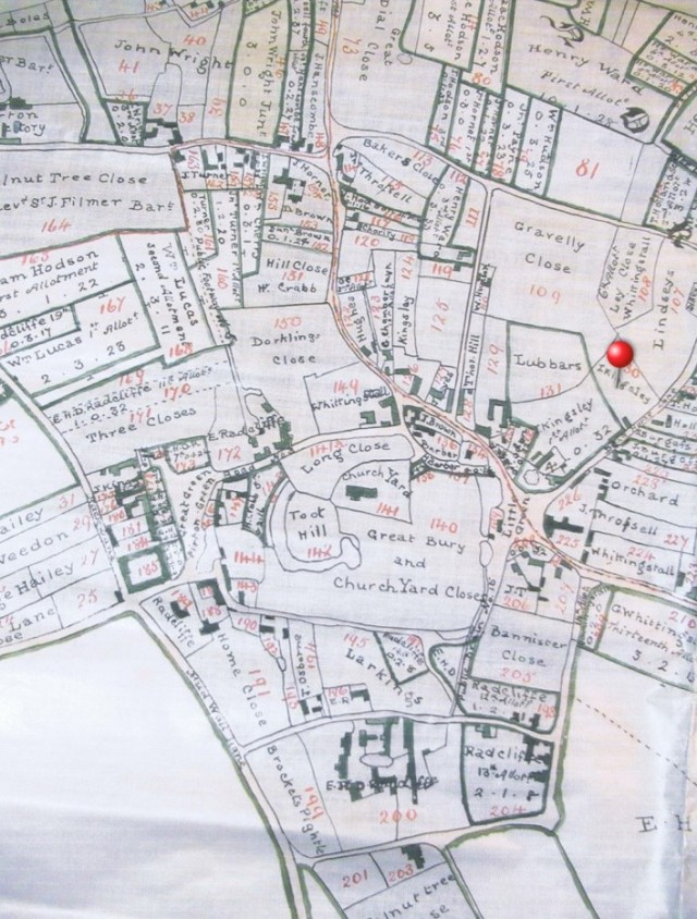 1818 Enclosure plan showing land ownership after land was exchanged.