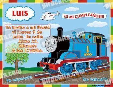 Invitación cumpleaños Thomas y sus amigos #01-0